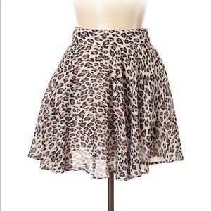 Delia's Leopard Print Mini Skirt